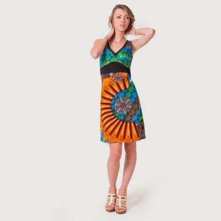 #Robe de plage Nadira avec son joli imprimé #ethnique elle ensoleillera votre été !