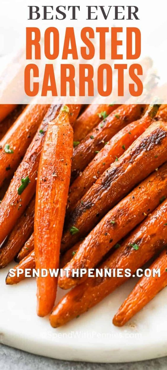 Roasted Carrots are so easy to prepare and make a perfect Thanksgiving side dish!