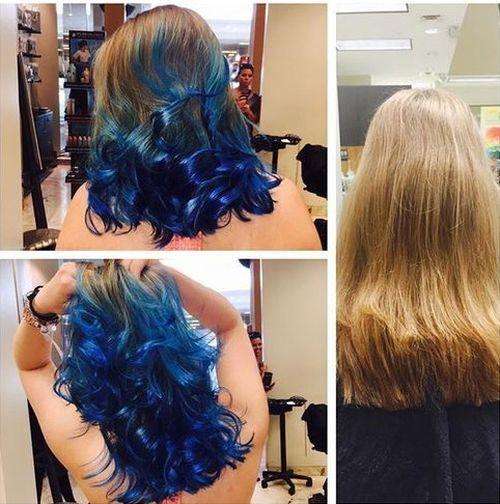 cool 20 Fairy-Like Blau Ombre Frisuren