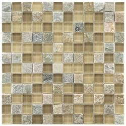 @Overstock - These Somertile mosaic tiles are perfect for baths, backsplashes, and kitchens. A fascinating mix of tan and beige glass accent these multicolored stone square tiles.http://www.overstock.com/Home-Garden/Somertile-Reflections-Square-Suffolk-Stone-and-Glass-Mosaic-Tiles-Pack-of-10/5784545/product.html?CID=214117 $126.99