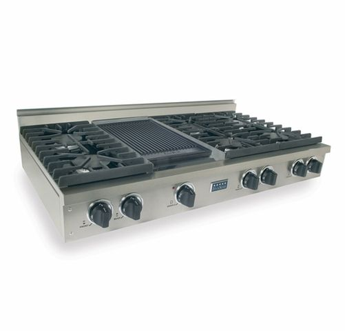Ttn047 7 Five Star 48 Natural Gas Pro Cooktop With 6 Sealed Burners Reversible Grill Griddle Stainless Steel Cooktop Kitchen Cooktop Grey Kitchen Designs