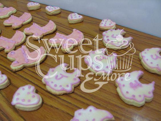 Cookies Baberos y Cochecitos para el Baby Shower de Jazmín