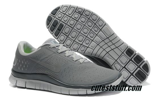 $54.29   Mens Nike Free 4.0 V2 Cool Grey/Dark Grey Shoes