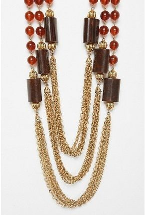 UrbanOutfitters.com > Vintage '70s Bead and Chain Necklace - StyleSays