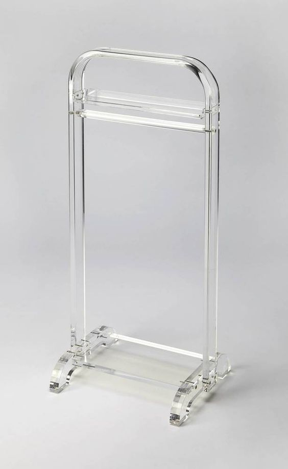 Crystal Clear Acrylic Valet Stand by Butler Specialty