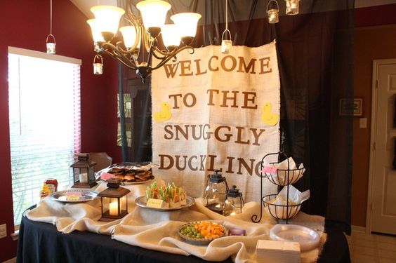 Tangled party food station: Snuggly Duckling!