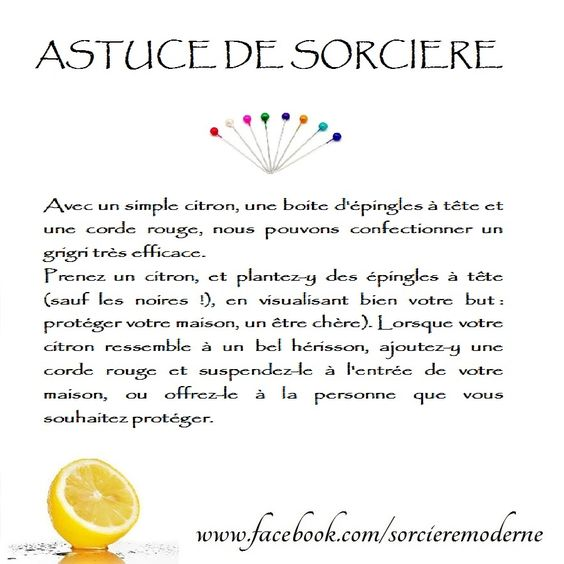 Astuce de sorci re citron pour la protection la for Sourate protection de la maison