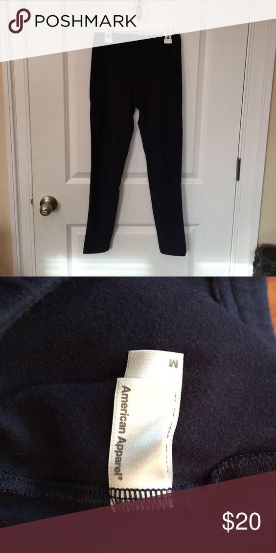 American Apparel ankle length leggings Navy American apparel leggings American Apparel Pants Leggings
