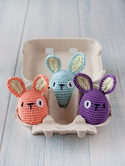 Amigurumi Bunny Egg : Crochet Easter egg bunnies - awww!! Easter Pinterest ...