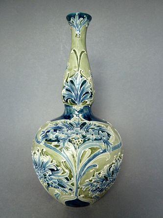 William Moorcroft Florian Cornflower Vase.