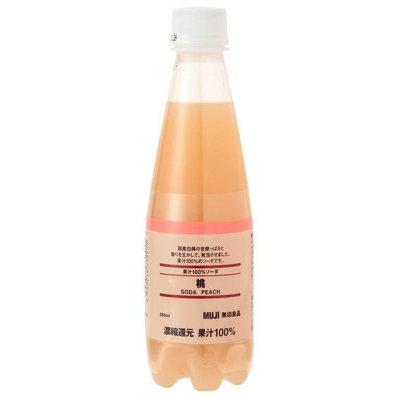 爽やかな甘さが魅力!無印良品の「果汁100%ソーダ 桃」