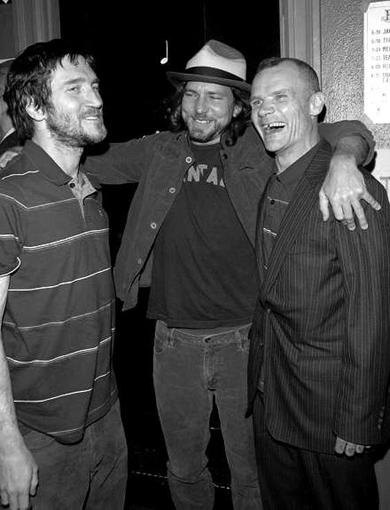 John Frusciante, Eddie Vedder and Flea