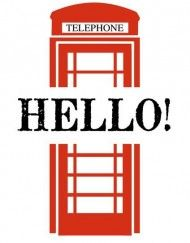 """'Notelets', for smaller sized cards.. """"Phonebox"""""""