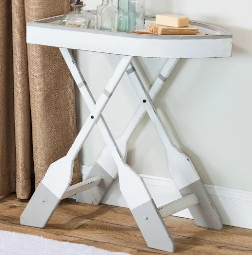 Coastal Nautical Accent Side End Tables End Tables Side