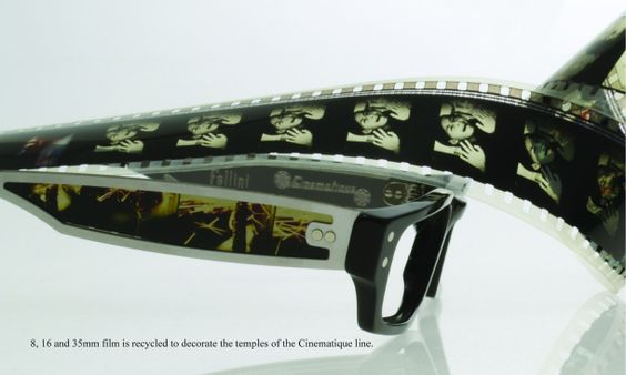 Brillen, die aus alten Filmrollen gemacht werden