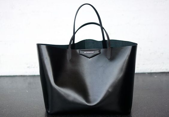 thin leather bag.