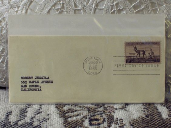 http://ajunkeeshoppe.blogspot.com/  First Day Issue / Cover - Stamp - Wildlife Conservation 1956 8ozP725B4HP1151