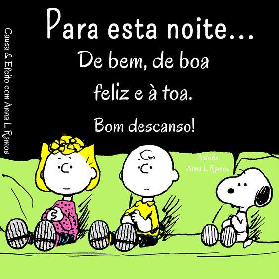 Snoopy Boa noite linda!