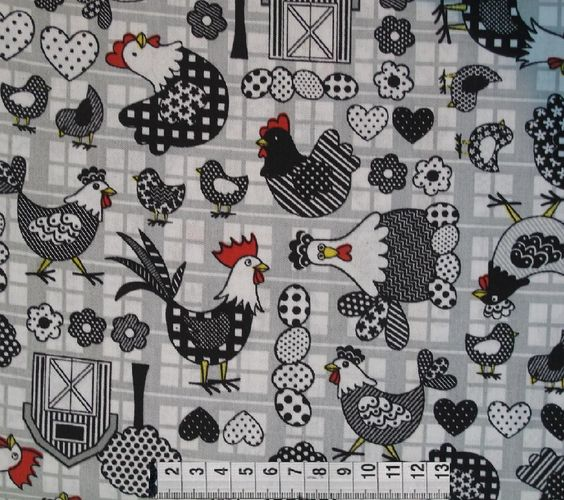 Fabric Patchwork Circle - 1069 Chickens (0.50x1.40) - 2012096