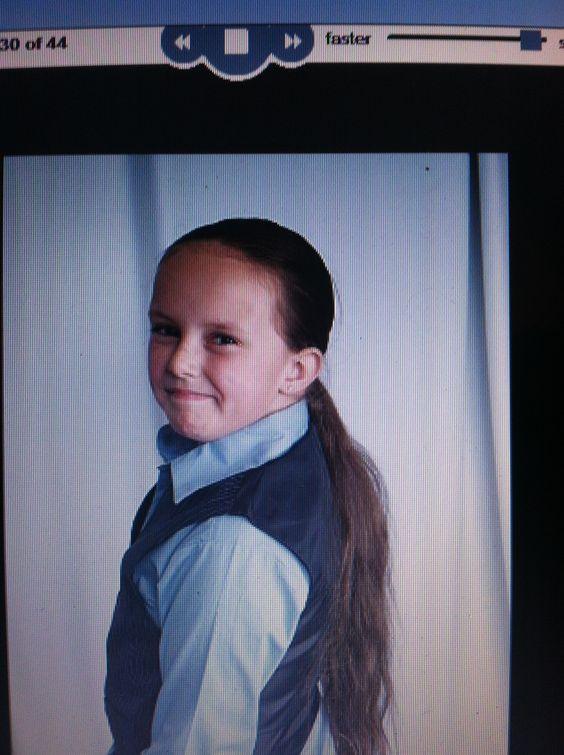 Long hair on a 9yr old boy hair never been cut