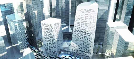 Crystal Towers in Riyadh by Henning Larsen Architects