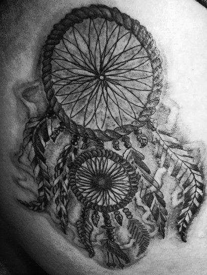 dream catcher tattoo hip tattoo for women