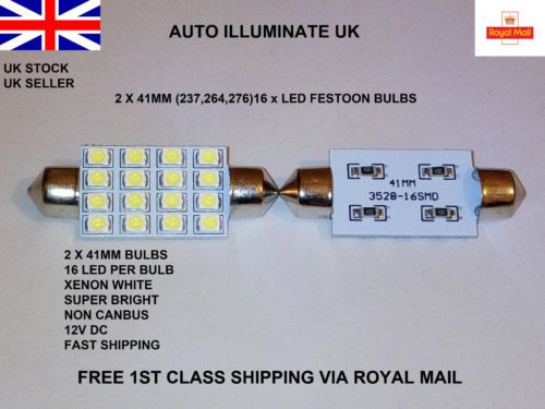 SUPER BRIGHT Indicator Light bulbs 2 x 5 AMBER SMD LED 501 T10 W5W Interior