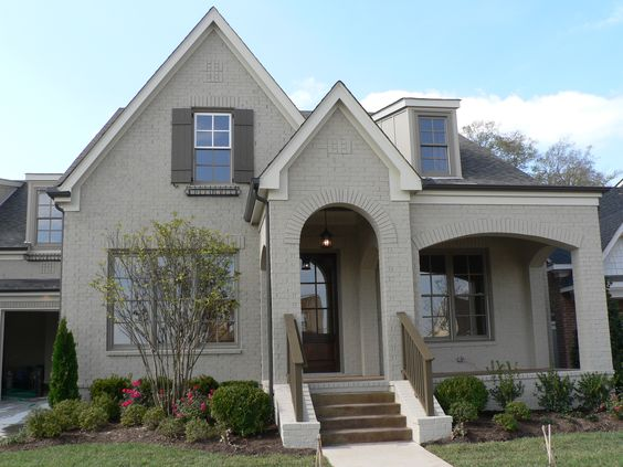 Brandon beige painted brick pinterest house colors colors and house - Painting a stucco house exterior model ...
