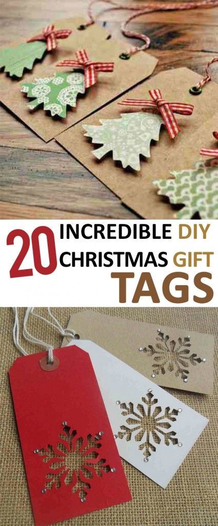 Pinterest Craft Ideas For Christmas Gifts Part - 36: 20 Incredible DIY Christmas Gift Tags -