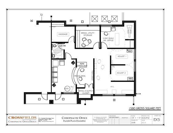 Chiropractic office floor plan semi open adjusting and - Semi open floor plan ...