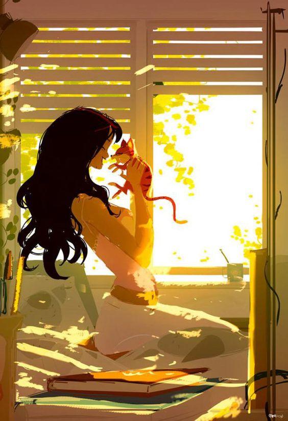 gatto-ragazza-finestra