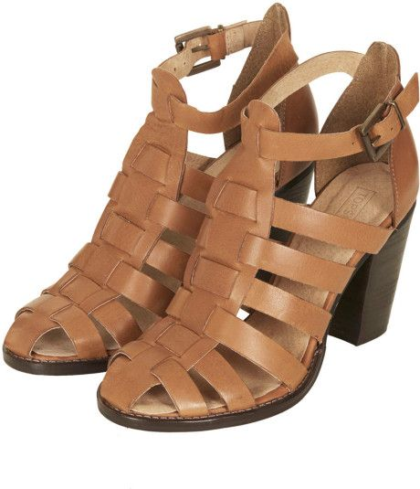 Women's Brown Gerrie Block Heel Gladiator Sandals | Topshop, Block ...