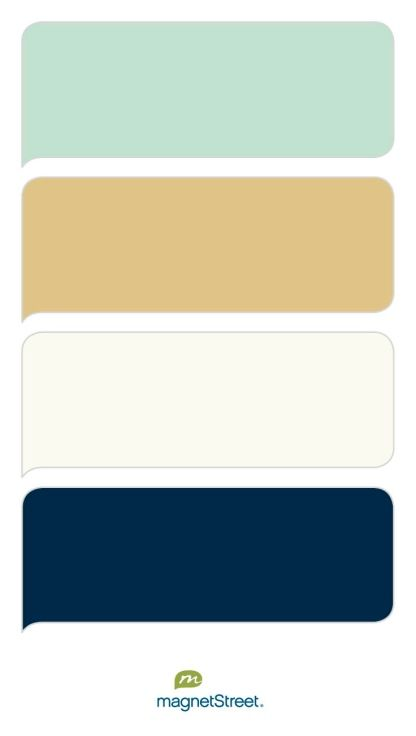 Celadon, Gold, Ivory, and Navy Wedding Color Palette - custom color palette created at MagnetStreet.com