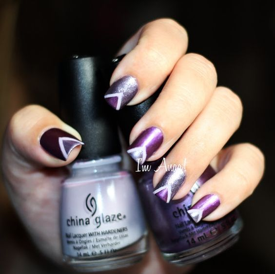 SYONP - Episode #02 : ▲ Purple Triangles ▼by I'm A Nail Art Addict!