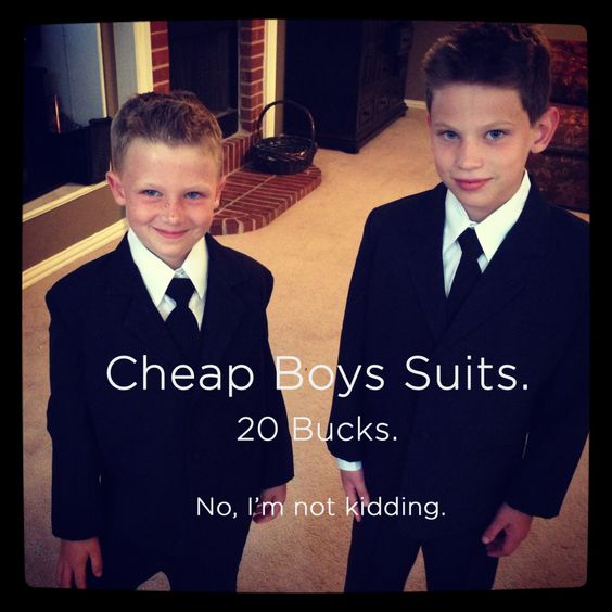 $19.99 Boys Suits. No, I'm not kidding. Why would we spend big bucks on something these kids are gonna outgrow in the next 8 minutes?! So impressed with this company!! #wedding #kids #suits #weddingsuits #cheap @Jò in Wonderland Wheeler