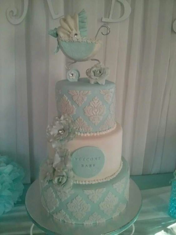 Chanel baby shower cake