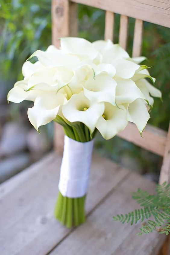 18 All White Wedding Bouquets Inspiration ❤ See more: http://www.weddingforward.com/white-wedding-bouquets-inspiration/ #weddings #bouquet: