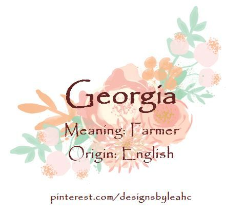 Baby Name Georgia Meaning