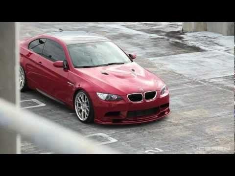 """BMW M3 E92 on 20"""" Vossen VVS-CV2 Concave Wheels / Rims"""