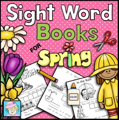 Sight Word Books for Spring (Paste, Trace, and Write) from TeacherTam on TeachersNotebook.com -  - Sight Word Books for Spring.  This set has students paste, trace, and write each word. It has 3 different books.  The following sight words are covered: pretty, you, now, new, saw, they.  $
