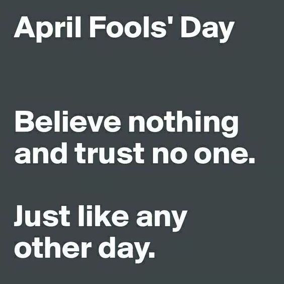 April Fool's Day .: