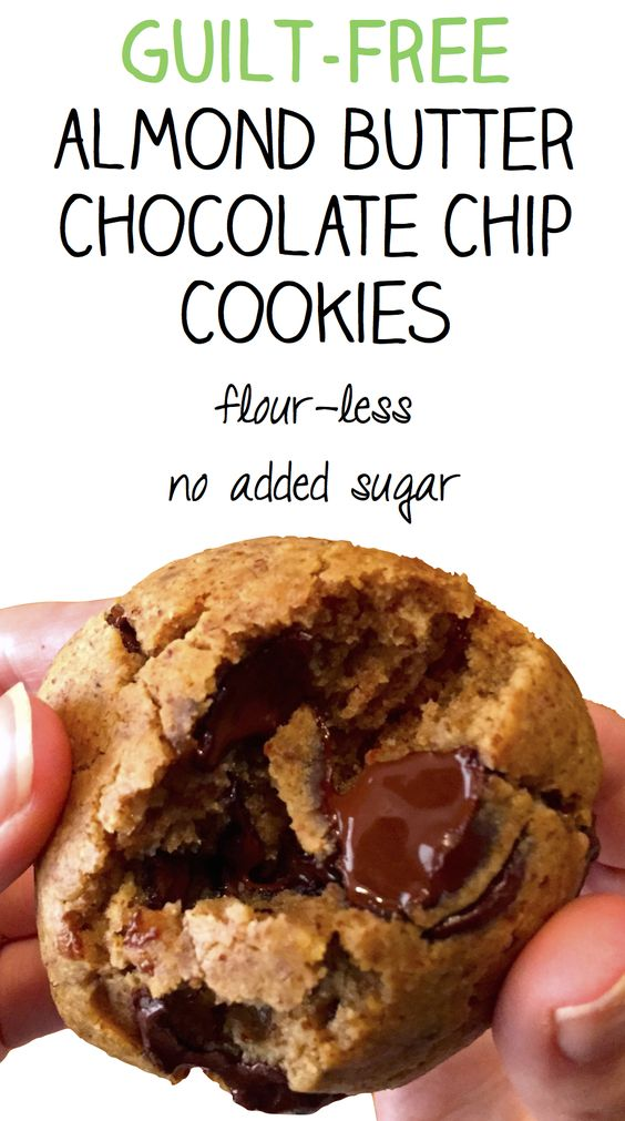 Almond butter, Chocolate chip cookies and Chip cookies on Pinterest