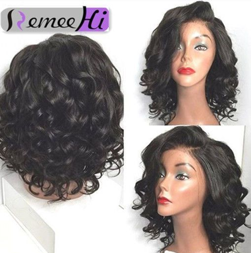14''-18'' Charming Fashion Wavy 100% Indian Remy Human Hair Full/Front Lace Wig