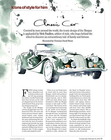 Car illustration by Christian David Moore