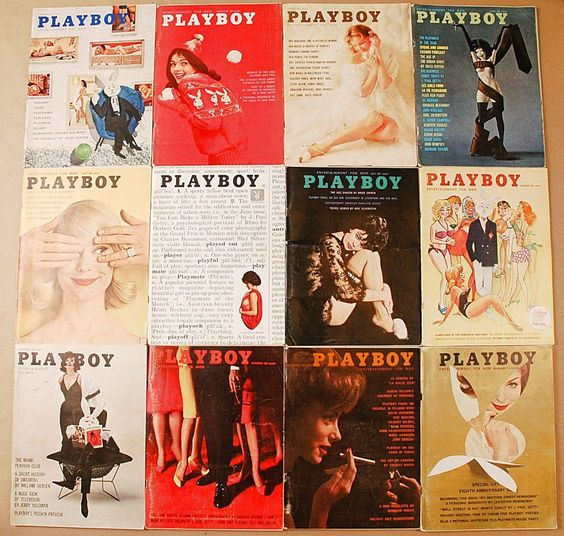 Playboy magazine covers from 1961.