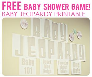 busy budgeting mama free baby shower printables baby jeopardy game