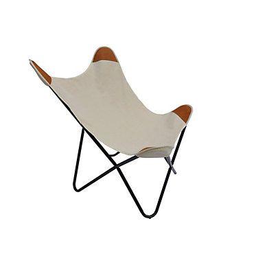 fauteuil papillon latina tissu blanc