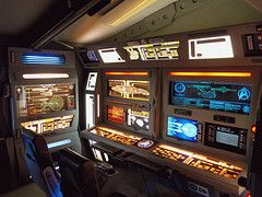 Federation Room, Out of Darkness (stevenighteagle) Tags: houses startrek trek star colorado interiors geek trekkers fantasy future scifi klingon sciencefiction voyager enterprise fandom ent props voy federation desks ds9 tng trekkies tos operationpanels