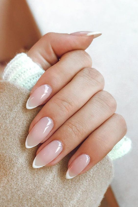 The Best Wedding Nails 2020 Trends In 2020 French Manicure Nails Pointy Nails Almond Nails Designs