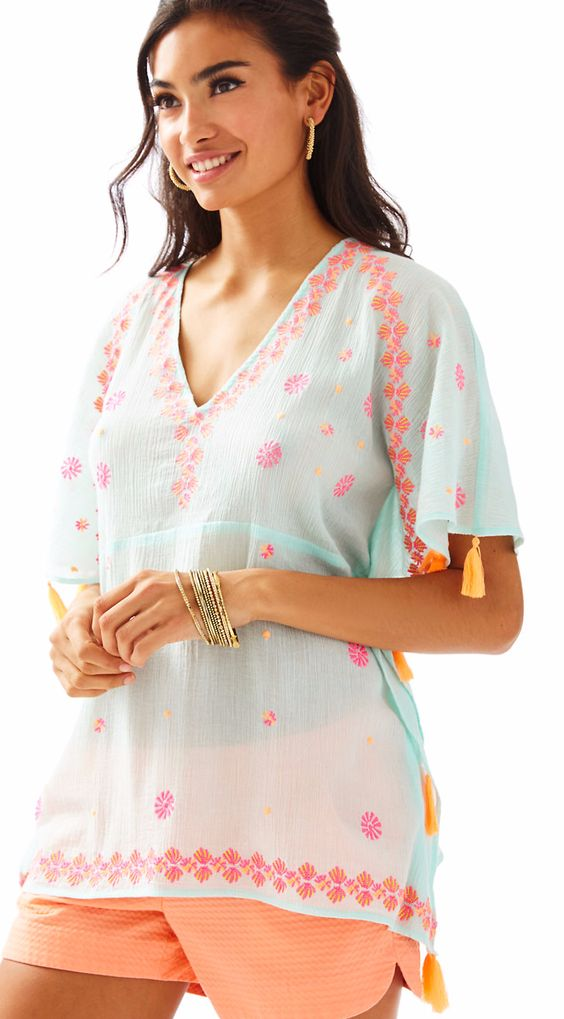 Sari Inspired Beach Coverup with Tassels